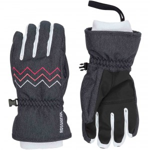 RĘKAWICE ROSSIGNOL JR JANE G DARK GRAY