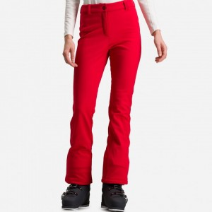 SPODNIE ROSSIGNOL W SKI SOFTSHELL PANT 21/22 SPORTS RED
