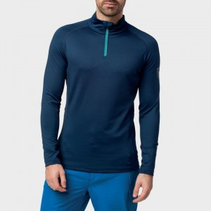 BLUZA ROSSIGNOL CLASSIQUE 1/2 ZI RED  NAVY BLUE
